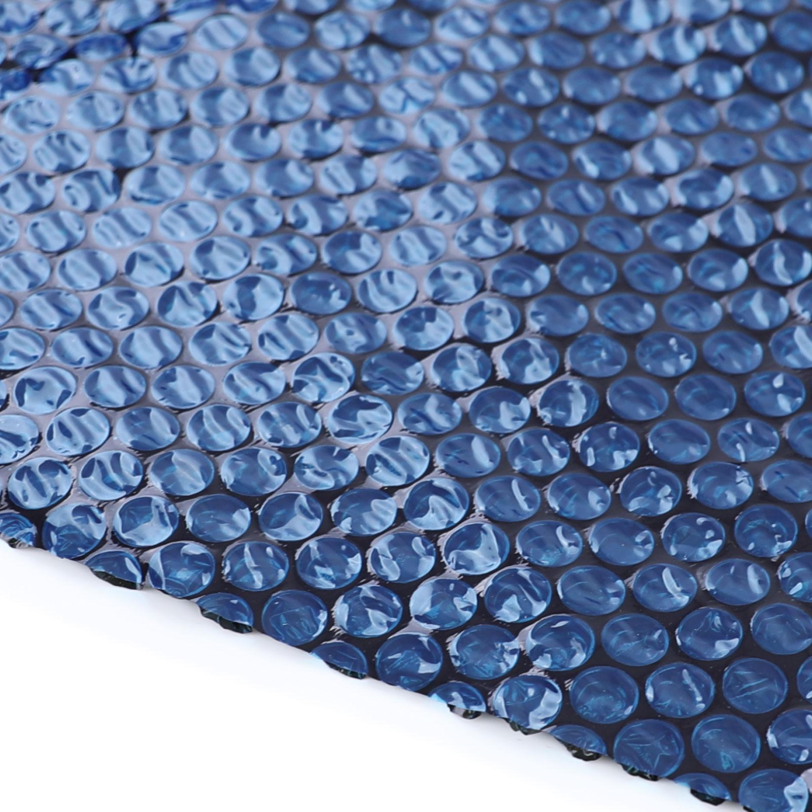 115µm Pool Solarplane Poolheizung Solarfolie Abdeckung Rund Blau Schwarz 550cm